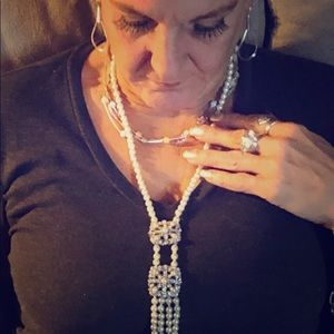 🔥📿Hi Justin brand new beautiful pearl necklace